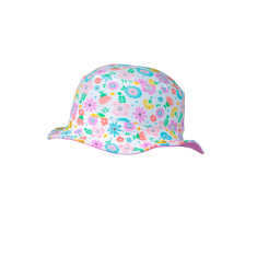 Girls' UPF 50+ bucket hat in bloom print