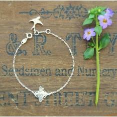 Molly silver bee bracelet
