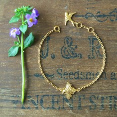 Molly gold bee bracelet
