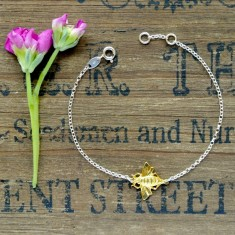 Molly silver and gold bee bracelet