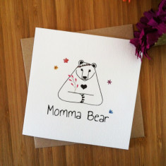 Momma bear Mother's Day card