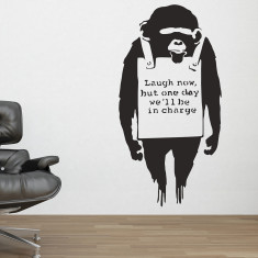 Banksy Monkey Sign wall stickers