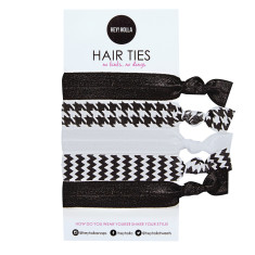 No Kink hair ties in monochrome