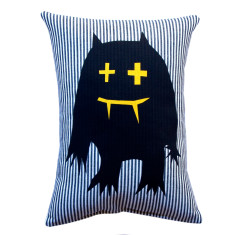 Monster cushion in thin stripe