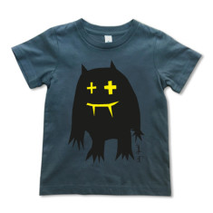 Black monster t-shirt on grey