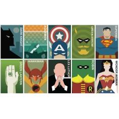 Vintage super hero poster montage
