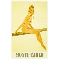 Monte Carlo vintage poster