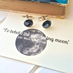Wandering moon cufflinks