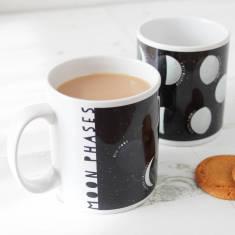 Moon phases educational mug