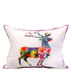 Moose floral cushion