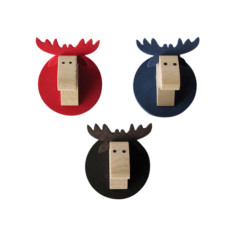 Moose head magnets (pack of 3)
