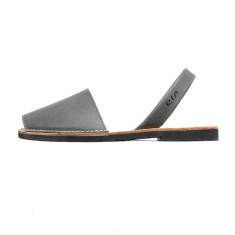 Morell leather sandals in steel grey