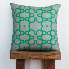 Boheme mosaic emerald cushion