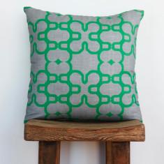 Boheme mosaic emerald cushion