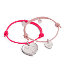 Mother & daughter personalised bracelet duo