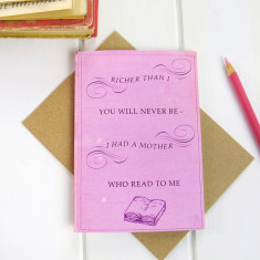 Mother's Day book card