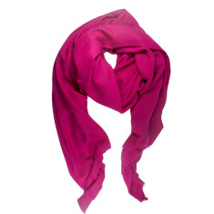 Moye cashmere stole in hot magenta