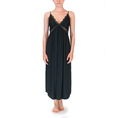 Long butterfly nightdress in Black