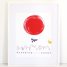 Dream Balloon Print - Dreaming Wide Awake