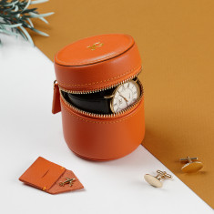 Personalised Luxury Leather Watch and Cufflink Box