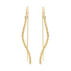 Silver rain diamond cut earrings in gold