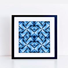 shibori sunrise – crosses – limited edition fine art giclee print