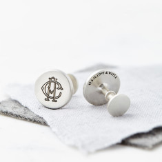 Personalised Solid Silver Entwined Monogram Cufflinks