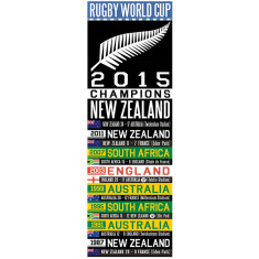 Large rugby world cup canvas