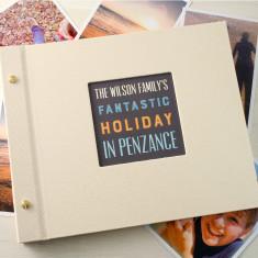 Personalised holiday photo album