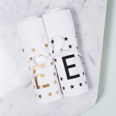 Personalised New Baby Muslin Set