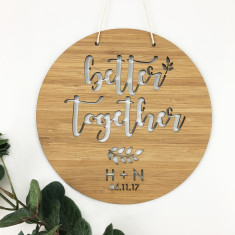 Better Together Personalised Wall Hanging