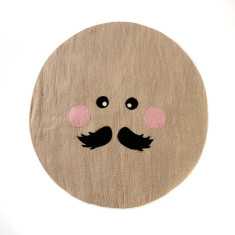 Mr moon felt ball rug