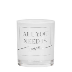 All You Need is Love Silver Candle