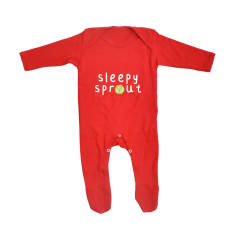 Personalised Sprout Baby Romper Sleepsuit