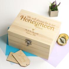 Personalised Honeymoon Keepsake Box
