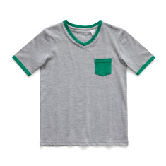 Boys Soft cotton pyjamas with Green Patch Pocket