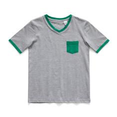 Boys Soft cotton pyjamas with Green Patch Pocket