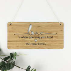 Home Simple Script Personalised Landscape Wall Hanging