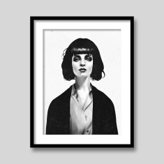 Mrs Mia Wallace by Ruben Ireland art print