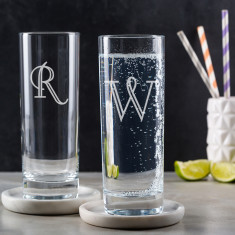 Personalised Highball Glass Engraved Initial