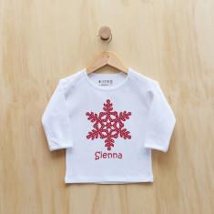 Personalised Christmas snowflake long sleeve t-shirt