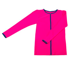 Girls' full zip long sleeve rashie (various colours)