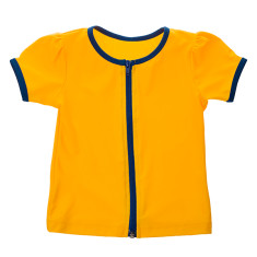 Girls' full zip short sleeve rashie (various colours)