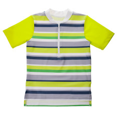 Boys' half zip short-sleeve rashie in Moreton (various colours)