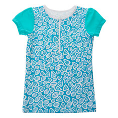 Girls' half zip short sleeve rashie in Coolum (various colours)
