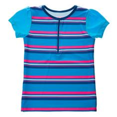 Girls' half zip short sleeve rashie in Sunshine (various colours)