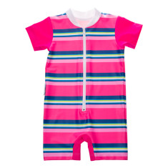 Baby short sleeve sunsuit for girls in Sunshine (various colours)