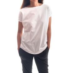 Cap Sleeve V Back Tee in White
