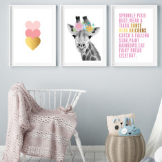 Sweet as art prints (set of 3)