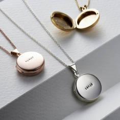 Personalised Round Locket Necklace